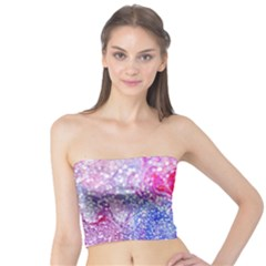 Glitter Pattern Background Tube Top