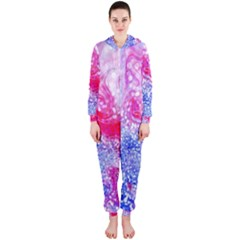 Glitter Pattern Background Hooded Jumpsuit (Ladies)
