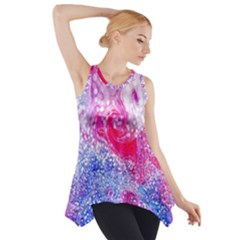 Glitter Pattern Background Side Drop Tank Tunic
