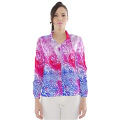 Glitter Pattern Background Wind Breaker (Women)