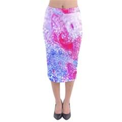 Glitter Pattern Background Velvet Midi Pencil Skirt