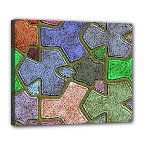 Background With Color Kindergarten Tiles Deluxe Canvas 24  x 20