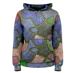 Background With Color Kindergarten Tiles Women s Pullover Hoodie