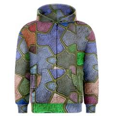 Background With Color Kindergarten Tiles Men s Zipper Hoodie