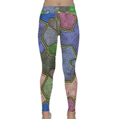 Background With Color Kindergarten Tiles Classic Yoga Leggings