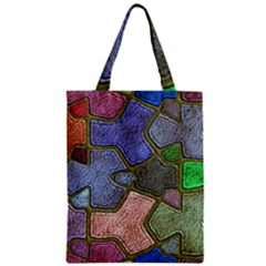 Background With Color Kindergarten Tiles Zipper Classic Tote Bag