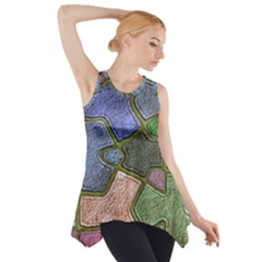 Background With Color Kindergarten Tiles Side Drop Tank Tunic