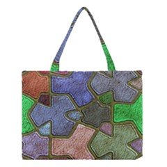 Background With Color Kindergarten Tiles Medium Tote Bag