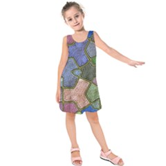 Background With Color Kindergarten Tiles Kids  Sleeveless Dress