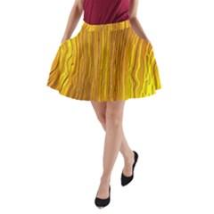 Light Doodle Pattern Background Wallpaper A Line Pocket Skirt