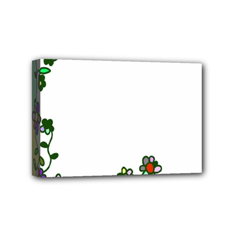 Floral Border Cartoon Flower Doodle Mini Canvas 6  x 4