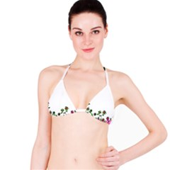 Floral Border Cartoon Flower Doodle Bikini Top