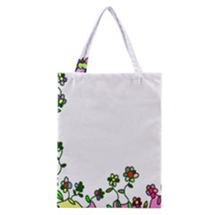 Floral Border Cartoon Flower Doodle Classic Tote Bag