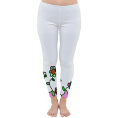 Floral Border Cartoon Flower Doodle Classic Winter Leggings