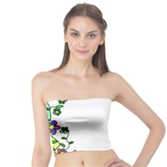 Floral Border Cartoon Flower Doodle Tube Top