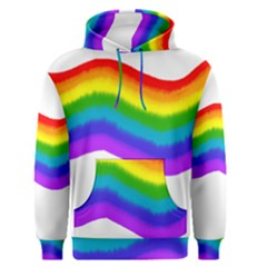 Watercolour Rainbow Colours Men s Pullover Hoodie