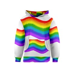 Watercolour Rainbow Colours Kids  Pullover Hoodie