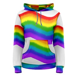 Watercolour Rainbow Colours Women s Pullover Hoodie