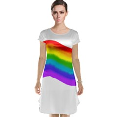 Watercolour Rainbow Colours Cap Sleeve Nightdress