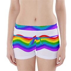 Watercolour Rainbow Colours Boyleg Bikini Wrap Bottoms