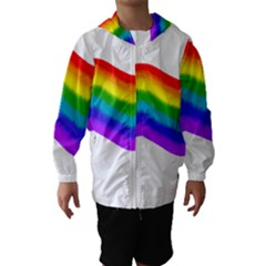 Watercolour Rainbow Colours Hooded Wind Breaker (Kids)