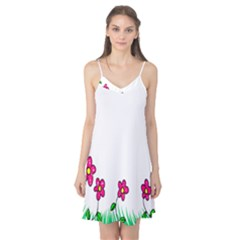 Floral Doodle Flower Border Cartoon Camis Nightgown