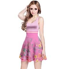 Hot Pink Spring Flower Reversible Sleeveless Dress