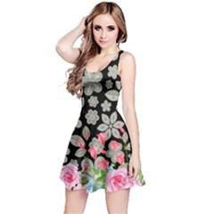 Spring Flower Reversible Sleeveless Dress