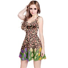 Spring Flower Reversible Sleeveless Dress