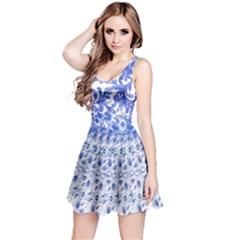 Royal Blue Spring Flower Reversible Sleeveless Dress