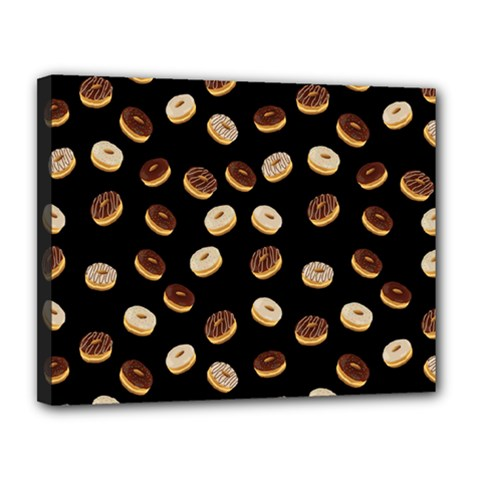 Donuts pattern Canvas 14  x 11
