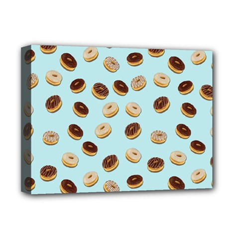 Donuts pattern Deluxe Canvas 16  x 12