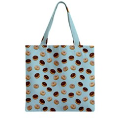 Donuts pattern Grocery Tote Bag