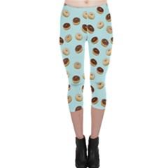 Donuts pattern Capri Leggings