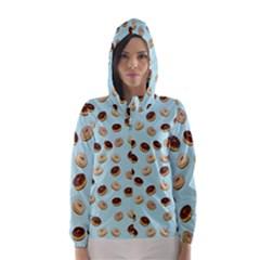 Donuts pattern Hooded Wind Breaker (Women)