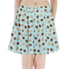 Donuts pattern Pleated Mini Skirt