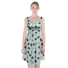 Donuts pattern Racerback Midi Dress