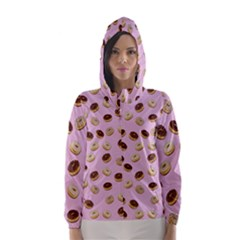 Donuts pattern Hooded Wind Breaker (Women)