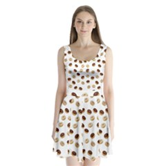 Donuts pattern Split Back Mini Dress