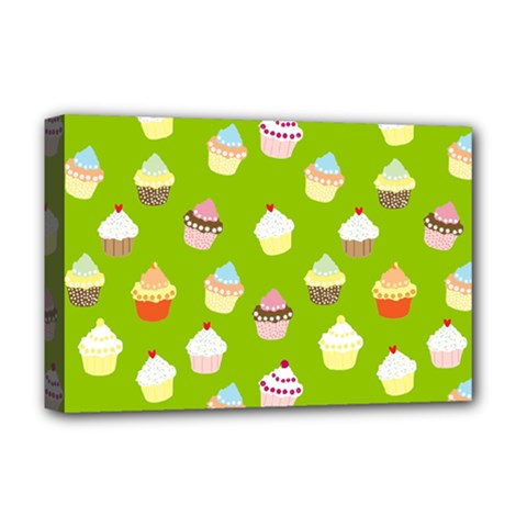 Cupcakes pattern Deluxe Canvas 18  x 12