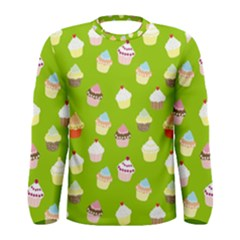 Cupcakes pattern Men s Long Sleeve Tee