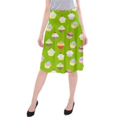 Cupcakes pattern Midi Beach Skirt