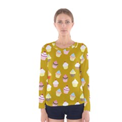 Cupcakes pattern Women s Long Sleeve Tee
