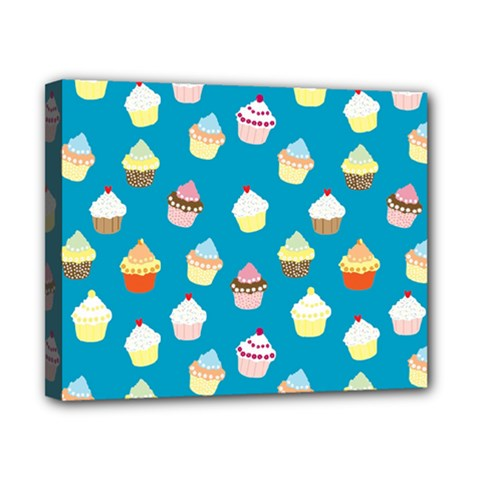 Cupcakes pattern Canvas 10  x 8