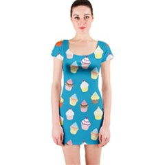Cupcakes pattern Short Sleeve Bodycon Dress