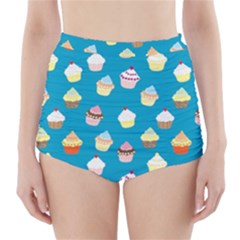 Cupcakes pattern High-Waisted Bikini Bottoms