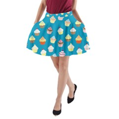 Cupcakes pattern A-Line Pocket Skirt