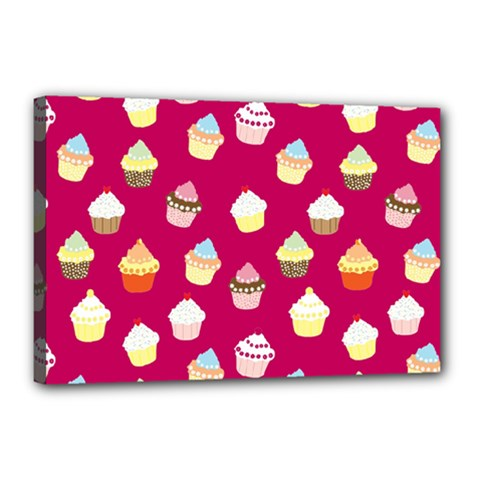 Cupcakes pattern Canvas 18  x 12