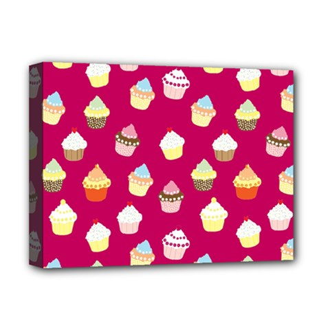 Cupcakes pattern Deluxe Canvas 16  x 12