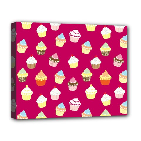 Cupcakes pattern Deluxe Canvas 20  x 16